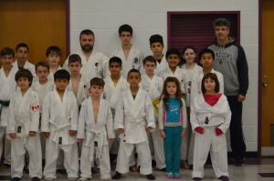 Kids group with both Coaches